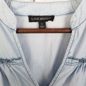 Lane Bryant Tops - Lane Bryant Chambray Blouse Size 16